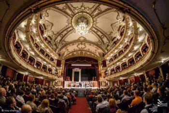 Sala Operei clujene în seara de 13 octombrie