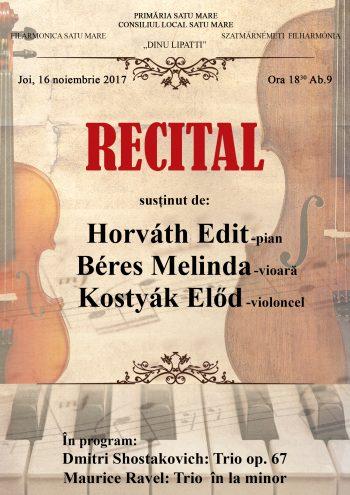 Afişul recitalului