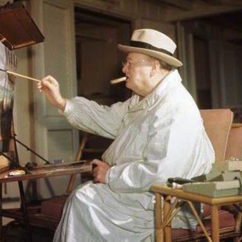 Churchill la șevalet