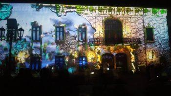 Proiecţie video pe faţada Castelului