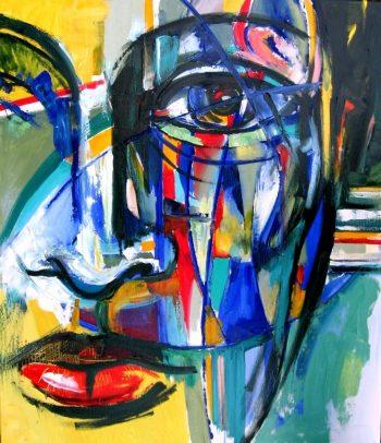 Privire feminină multicoloră