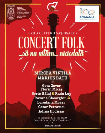 Afişul concertului