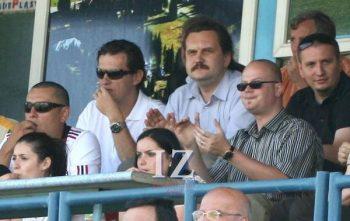 Tribuna oficială din Oradea, din luna iunie 2011 când Olimpia a promovat în Liga 3