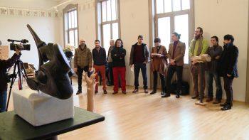 Artiştii prezenţi la vernisaj au fost prezentaţi publicului