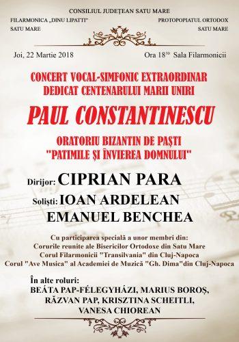 Afișul concertului