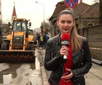 Ziarista Larisa Matei de la Informaţia Zilei a fost într-unul din autobuze