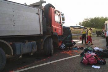 TIR-ul implicat in accidentul de pe drumul national din Ungaria