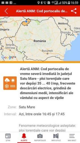 Cod portocaliu in judetul Satu Mare