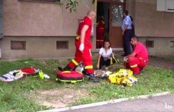 Un barbat a cazut de la etaj pe Bulevardul Lucian Blaga