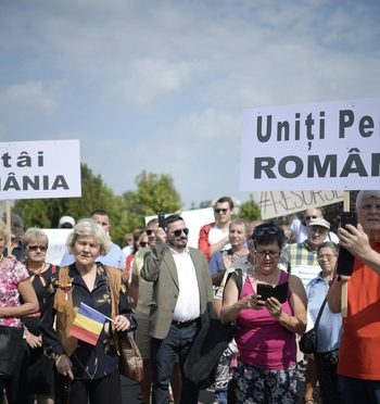 Miting in Capitala, pentru resursele Romaniei