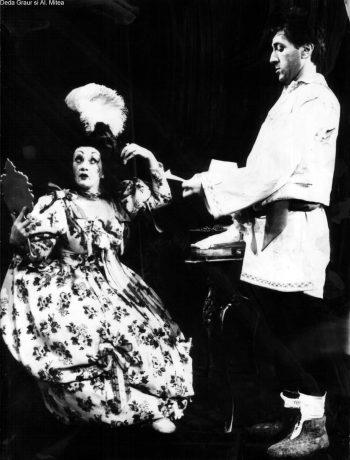 Pe scenă alături de Deda Graur