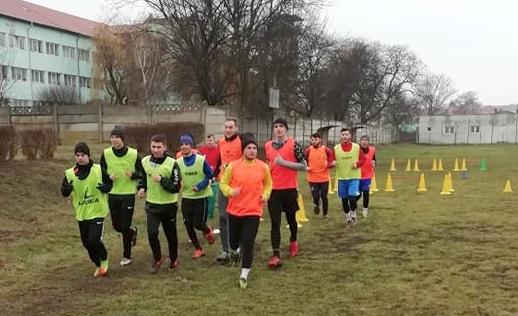 Poză de la antrenamentul Victoriei Carei din 11 februarie 2019