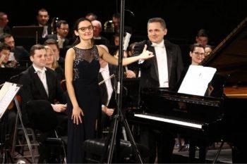 Valentin şi Felicia Doni la finalul unui concert