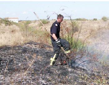 Incendii dese de vegetatie in ultimele saptamani in judet