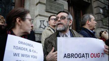 Protest la Facultatea de Litere, Bucuresti