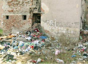 Tone de gunoi langa fostele blocuri IPL de pe strada Ion Ghica