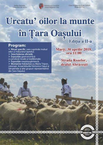 Afis Urcatu oilor la munte 2019
