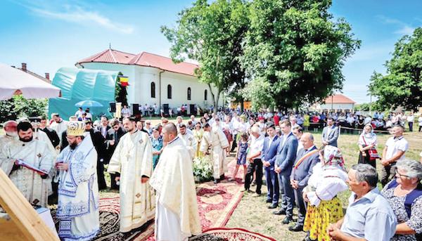 Noua biserică va fi în apropierea celei vechi. Credit foto: Episcopia Ortodoxă Română a Maramureşului şi Sătmarului